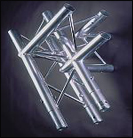 TRIANGULAR TRUSS 4 WAY JUNCTION